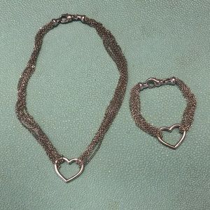 Jewelry - Tiffany inspired necklace and bracelet set